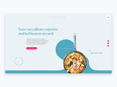 Menomo - Restaurant website food restaurant art direction flat ui website design web modern web design