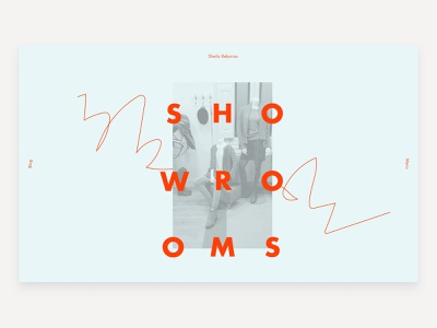 Showrooms Page Title fashion graphic design web flat ui art direction modern design website web design