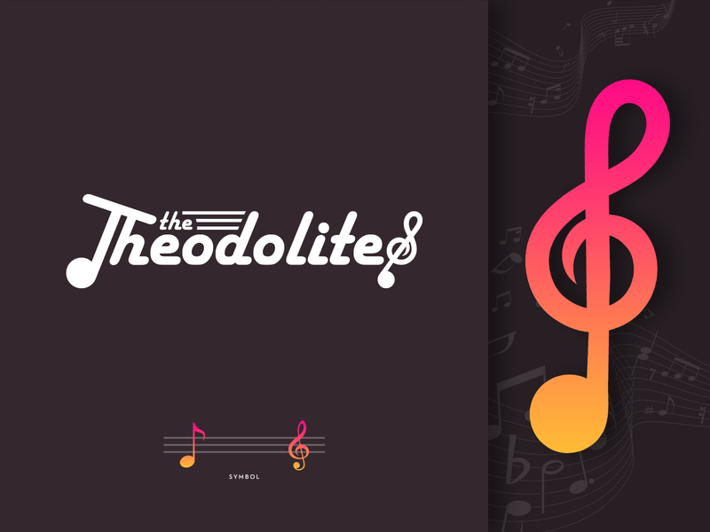 The Theodolites logo design band music logo music illustration logo type art direction logo identity branding