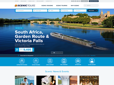 Scenic Tour Home Page scenic tours website touring travel cruising