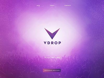 VDrop Concept Site vdrop concept site app one page