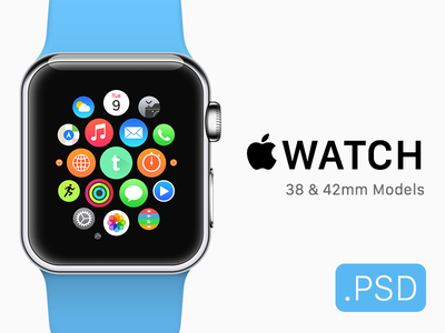 Apple Watch + Icon Mockup (Free .PSD) psd device free template icon app mockup watch apple