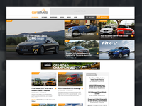 Car Review Site Homepage