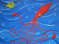 Giant Squid & Angular Fish