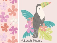Toucan and Hibiscus