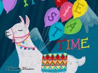 Fiesta Time Llama