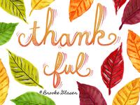 Thankful Fall Leaves