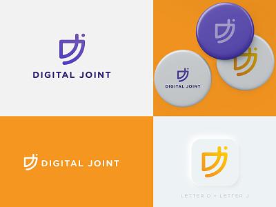 Digital Joint Logo Design advertisement concept creative logotype digital branding illustration modern designer design business logo design logopreneur logo