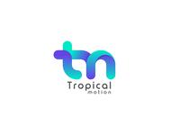 Tropical motion logo design