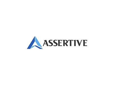 Assertive Logo Design arrow assertive logopreneur color modern minimal simple logo design logo