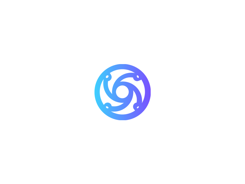 Abstract Blue Circle Logo By Logo Preneur On Dribbble