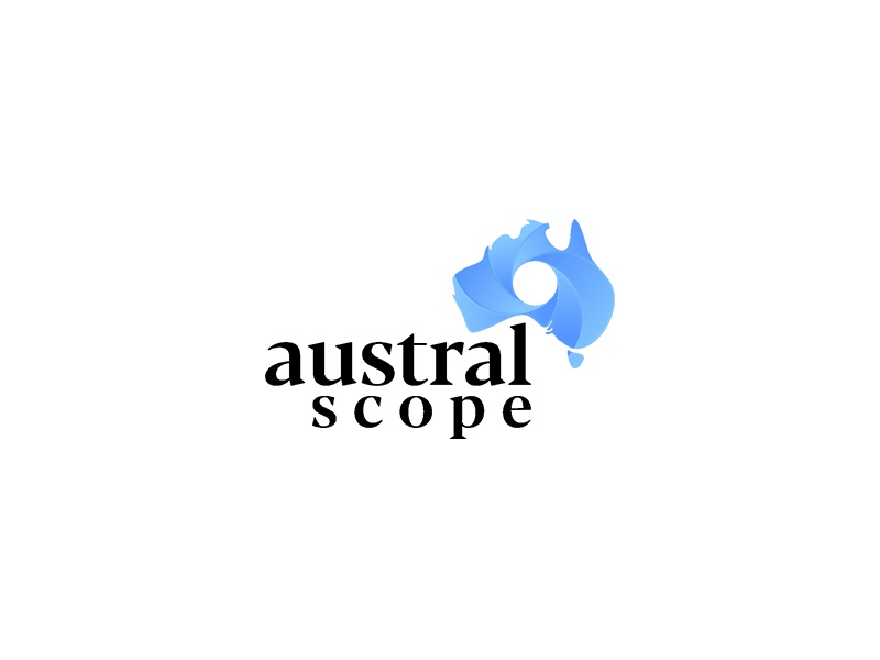 Austral Scope Logo Design typography graphic modern unique designer business unique logo logo design logopreneur logo