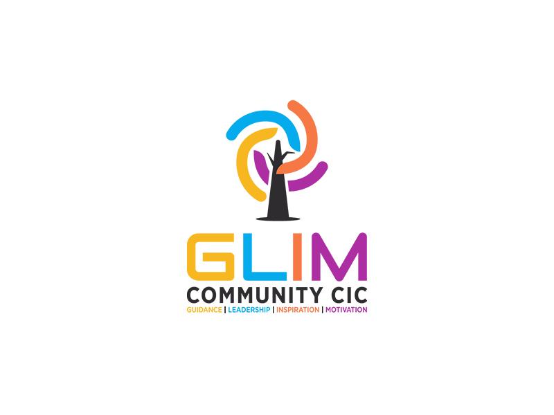 Glim Community Logo Design typography graphic business designer modern unique unique logo logo design logopreneur logo
