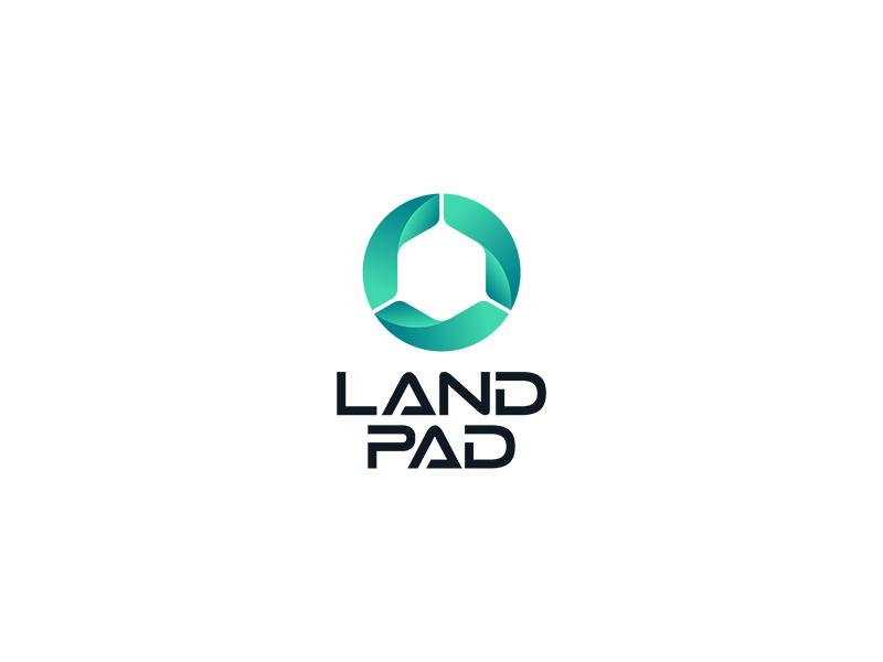 Land Pad Logo Design design typography business abstract modern designer unique logo logo design logopreneur logo