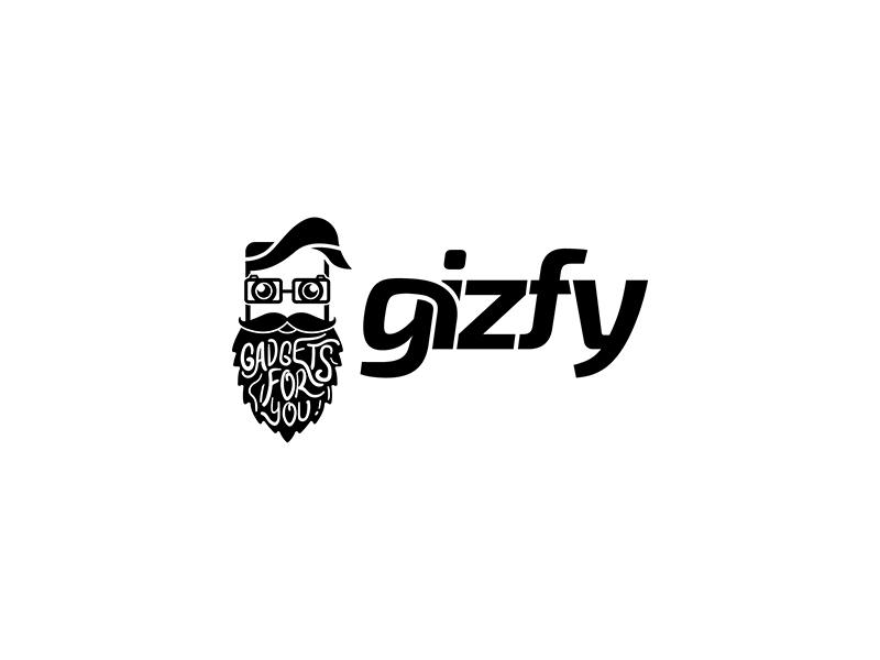 Gizfy Logo Design branding typography vector black logo design illustration designer logopreneur logo