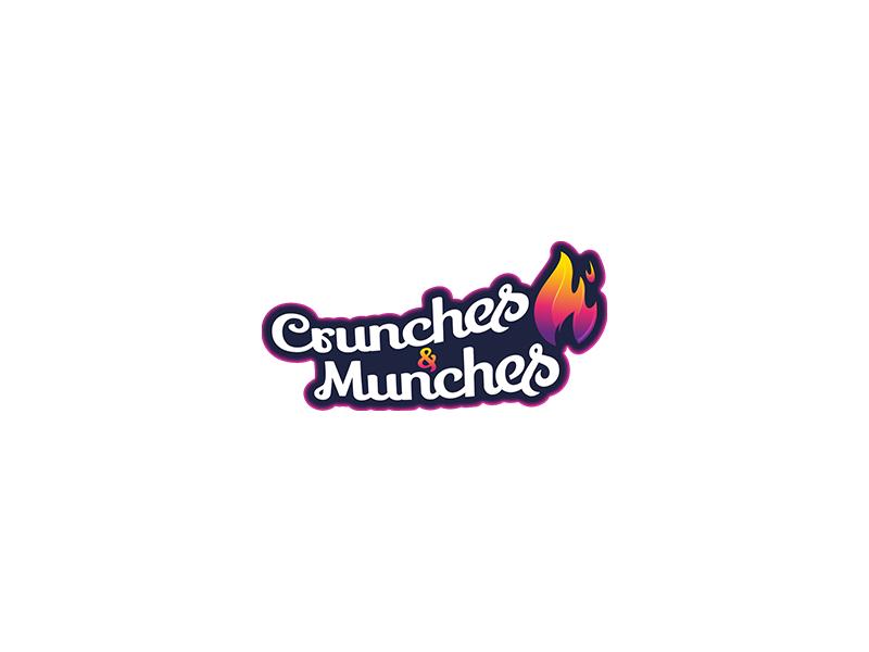 Crunches & Munches Logo design typography graphic branding modern single unique logo design logopreneur logo