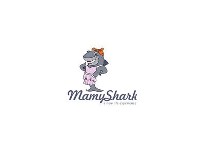 Mamy Shark Logo Design