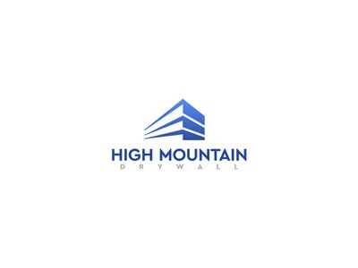 High Mountain Dry Wall Logo Design