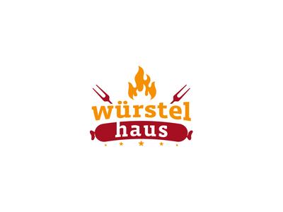 Wurstel  Haus Logo Design