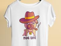 Pug Life - T shirt Design