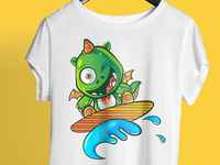Cute Dinosaur - T Shirt Design