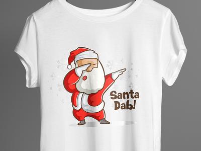 Cute Santa Dab - T Shirt Design