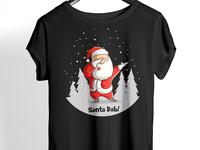 Santa Dab Black T Shirt Design