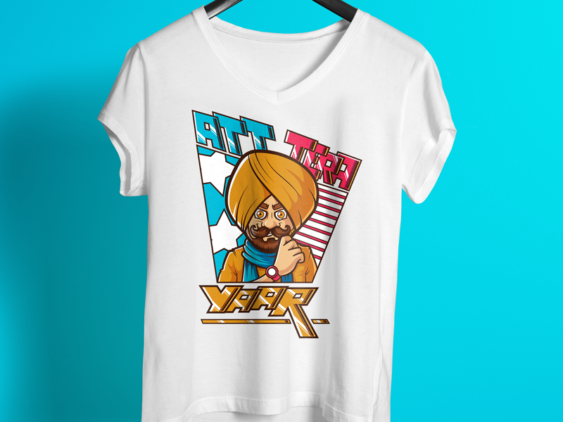 d7ef19b4c Att Tera Yaar Punjabi T Shirt Design punjabi tshirt design famous design  colorful design unique design