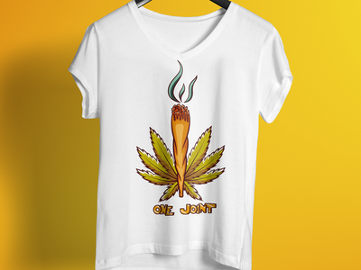 One Joint T Shirt Design