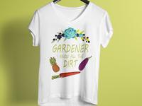 Gardener T Shirt Design
