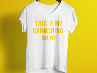 Gardening T Shirt Design