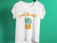 Pot Head T Shirt Design