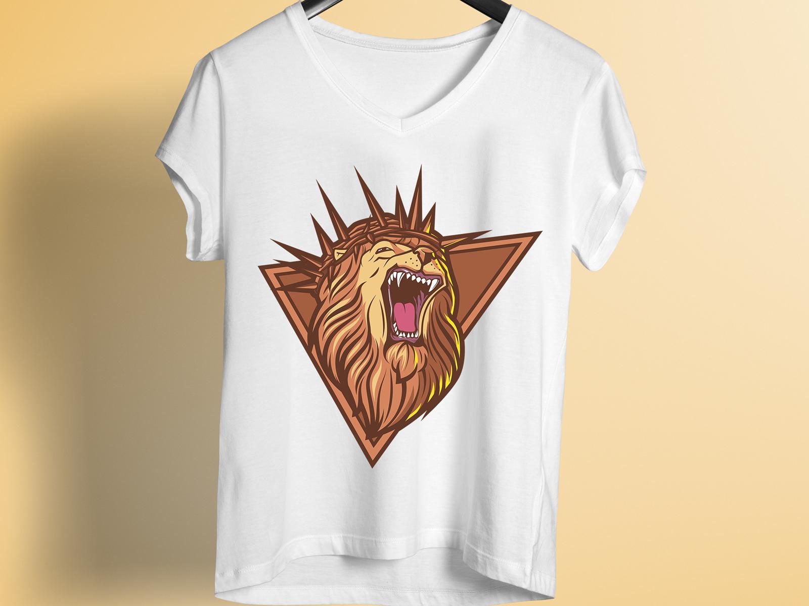 Lion T Shirt Design By Teestation Dribbble Dribbble