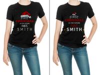 First Christmas T Shirt Design