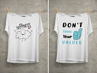 Don't Loose Your Values T Shirt Design