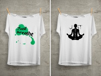 Just Breathe T Shirt Design