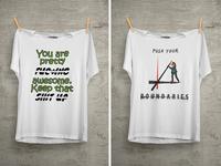 Push Your Boundaries T Shirt Design