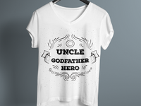 Uncle Godfather Hero T-Shirt Design