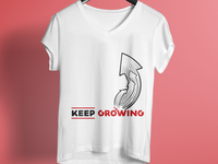 Keep Growing T Shirt Design