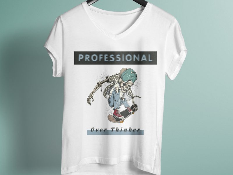 8b806dc1 Professional Over Thinker T Shirt Design by TeeStation | Dribbble ...