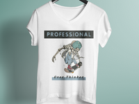Professional Over Thinker T Shirt Design