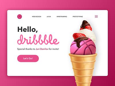 Hello, Dribbble! invite hello dribbble illustration web ui ux design