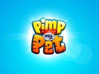 Pimp My Pet game title 3d logo kids logo game branding 3d title cartoon logo boardgames boardgame title design game logo