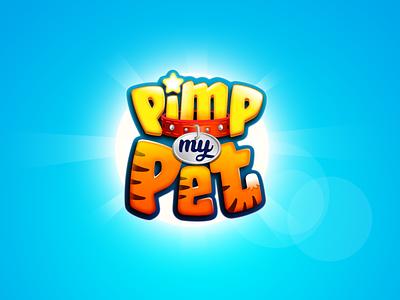 Pimp My Pet game title 3d logo kids logo game branding 3d title cartoon logo boardgames boardgame title design game logo