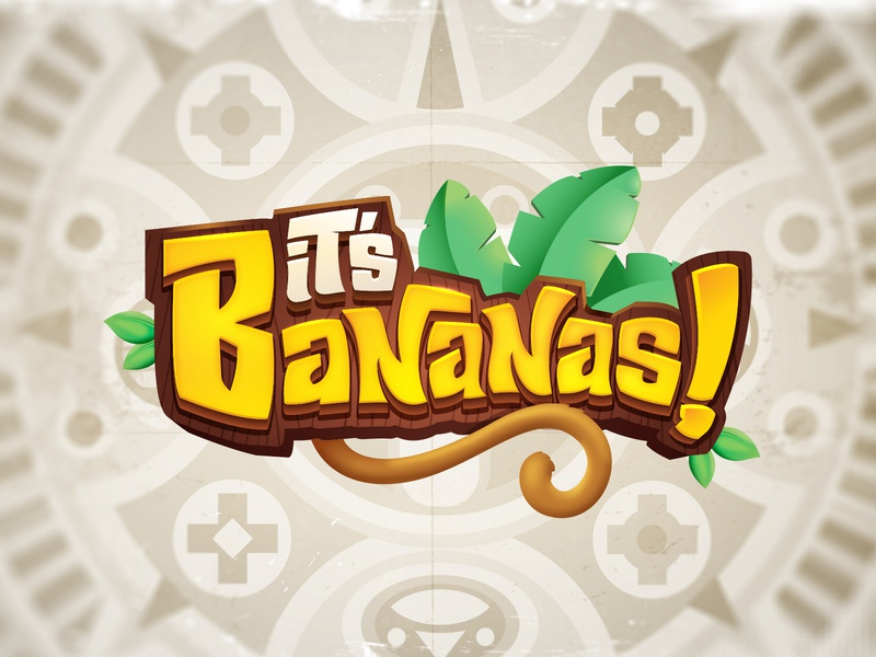 It s Bananas! 3d logo boardgames logo design 3d title cartoon logo board game game branding title design boardgame game logo