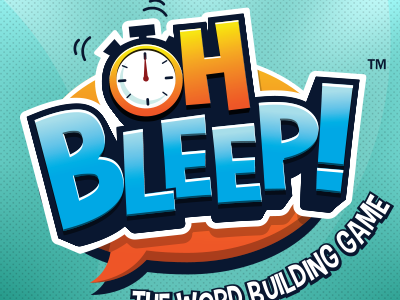 Oh Bleep Game Title board game load fun logo game logo 3d title title design game title boardgame