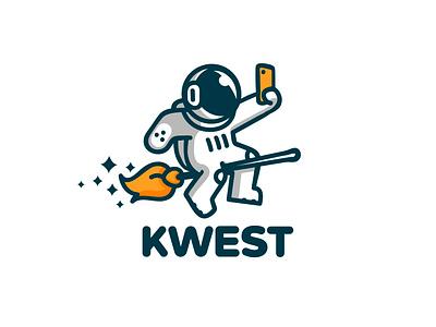 Kwest kwest game logo game studio new player logo design branding