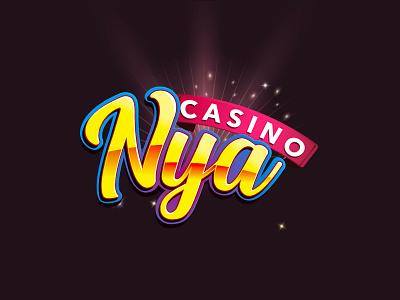 Nya Casino slots casino title casino casino games 3d title 3d logo title design game title game logo