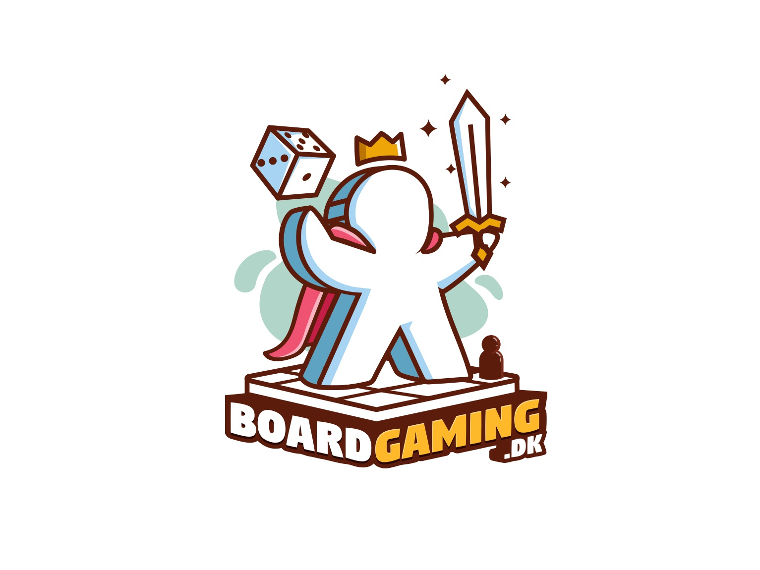 Boardgame studio logo game logo sketch logo cartoon logo logo design branding boardgames logo boardgame