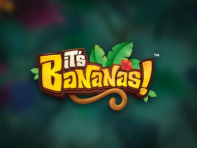 It's Bananas kids logo game title design cartoon logo 3d title game branding game title game logo boardgames title design boardgame